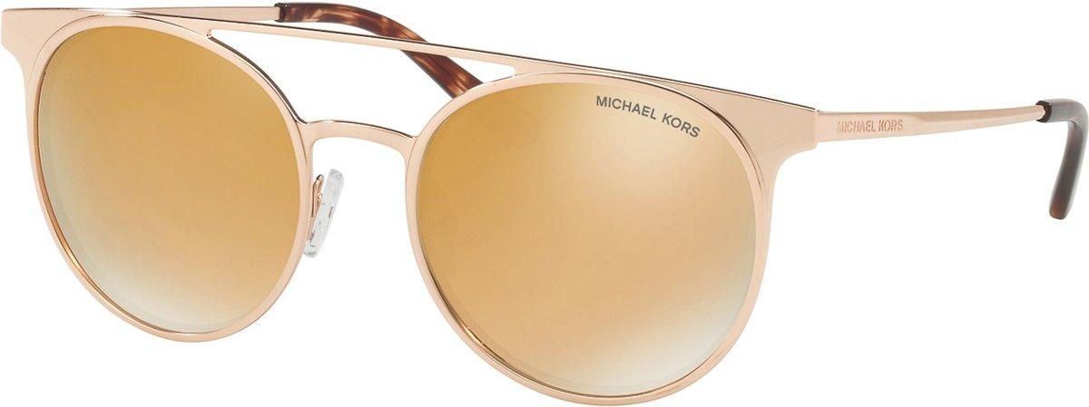 Michael Kors Grayton Liquid Rose Gold-coloured Mirror Zonnebril 0MK1030 10265A 52 - Roségoud kopen