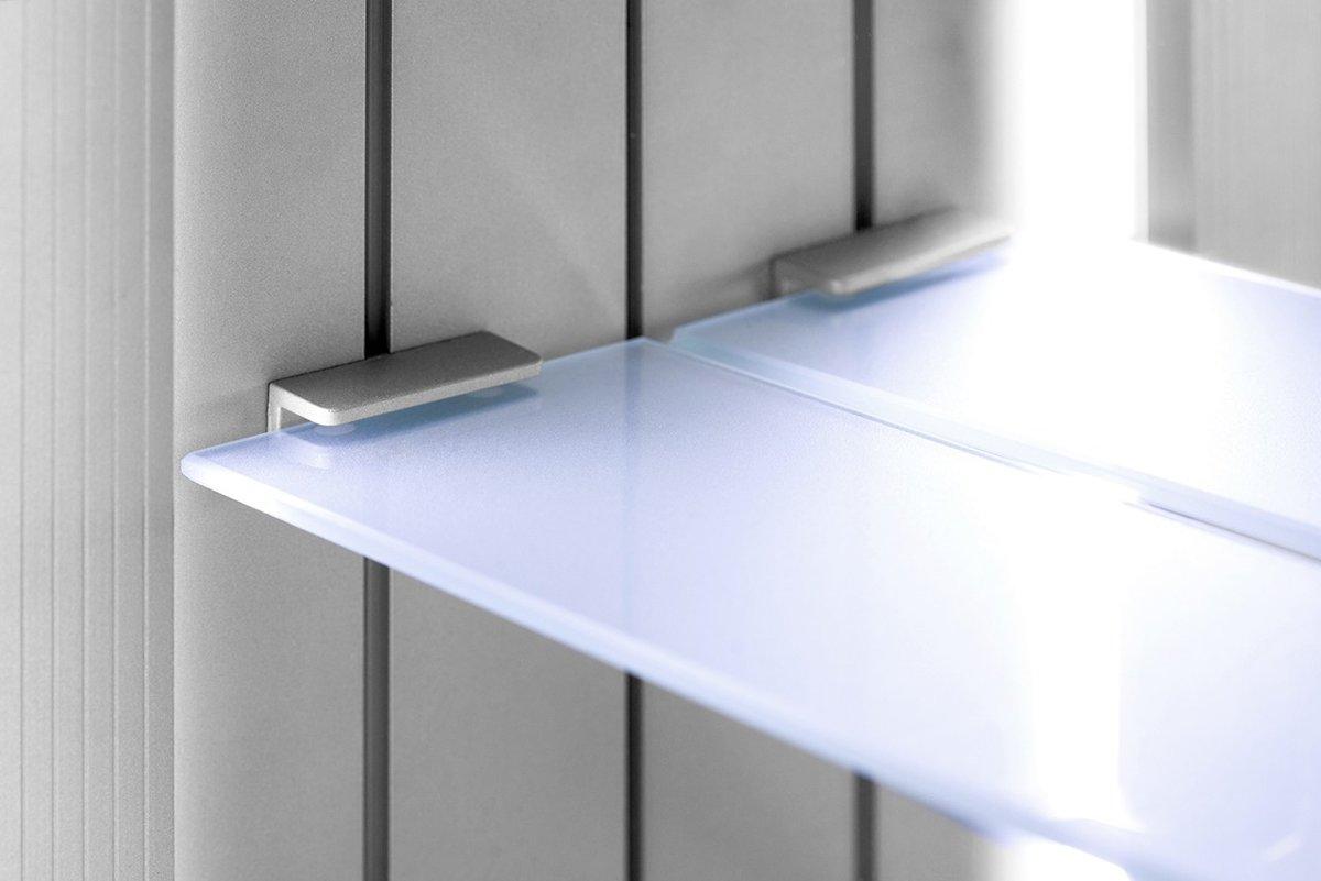 Badkamer Spiegelkast 100cm : Bol cm brede spiegelkast met verlichting verwarming en