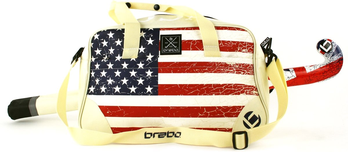 Brabo Flags Deluxe USA - Schoudertas - Volwassenen - Beige/ Wit/ Rood/ Blauw kopen