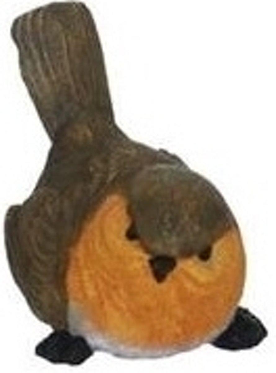 Beeldje roodborstje type 3 van 11 cm