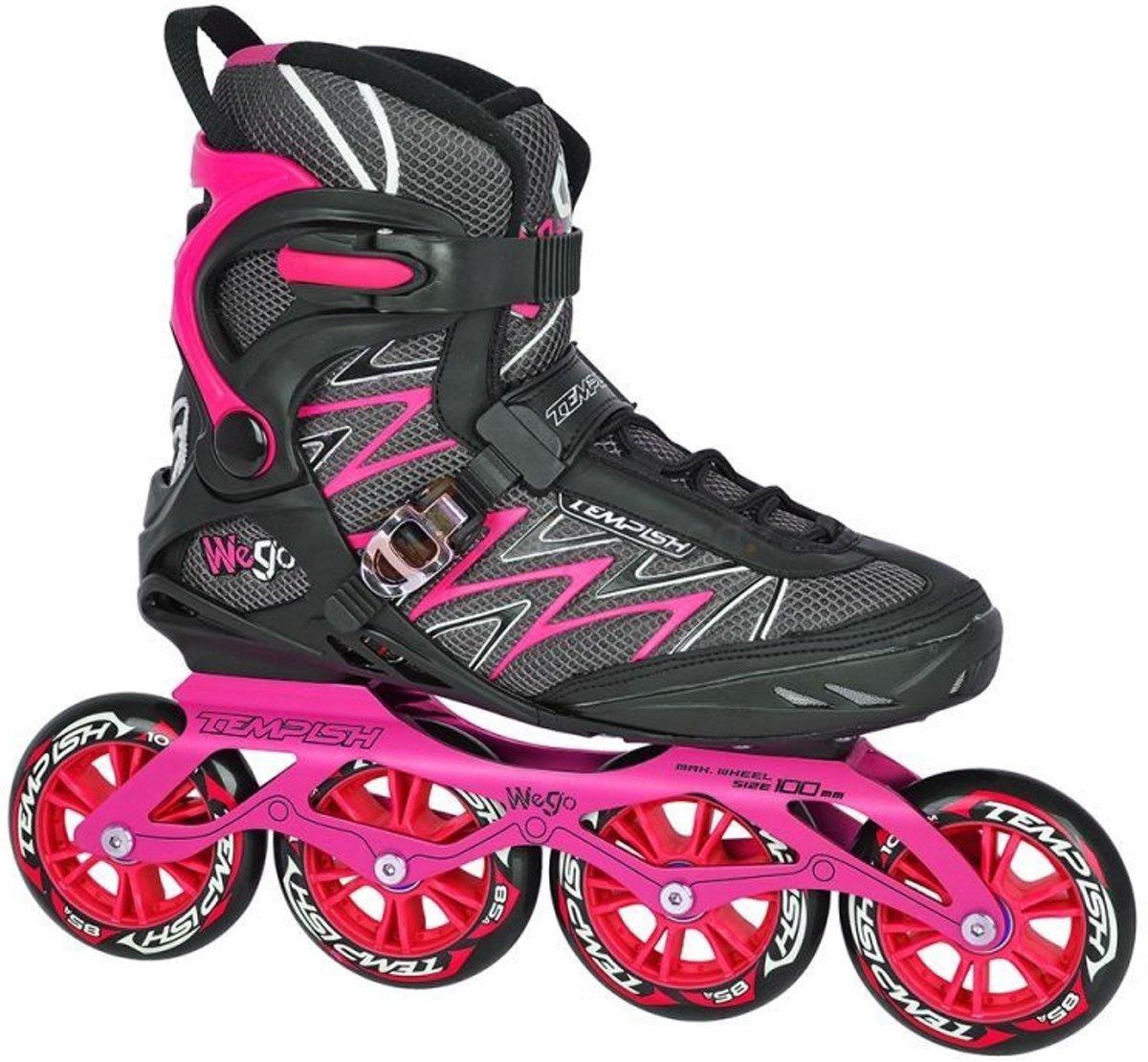 c0748661638 bol.com | Tempish Inline Skates We-go 100 Dames Zwart/roze Maat 39