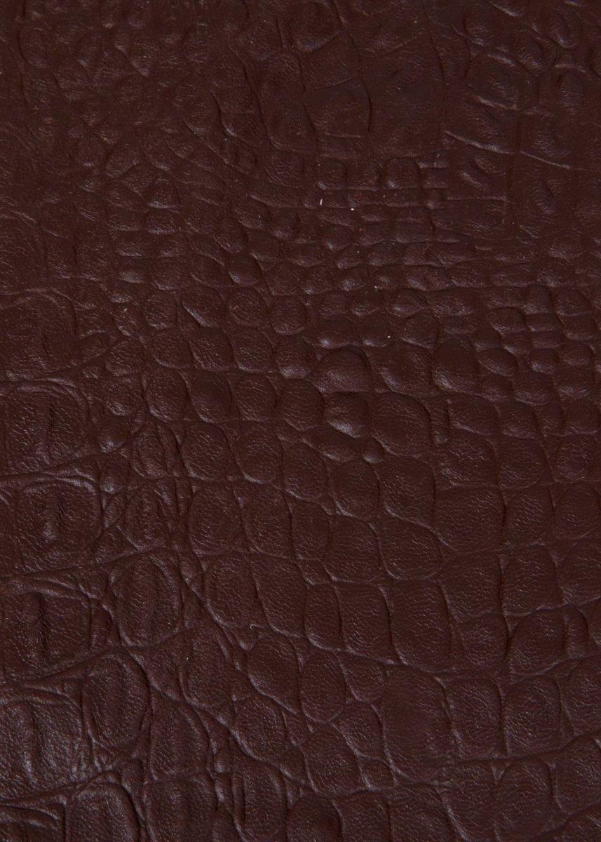 Viabologna lap leer krokoprint chocoladebruin