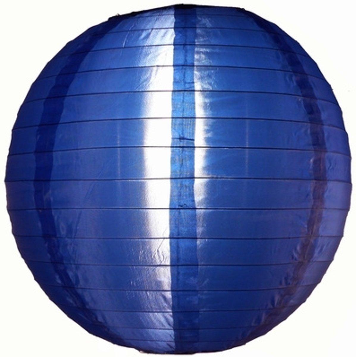 5 x Nylon lampion donker blauw 45 cm - EK2020 Koningsdag versiering rood wit blauw oranje kopen