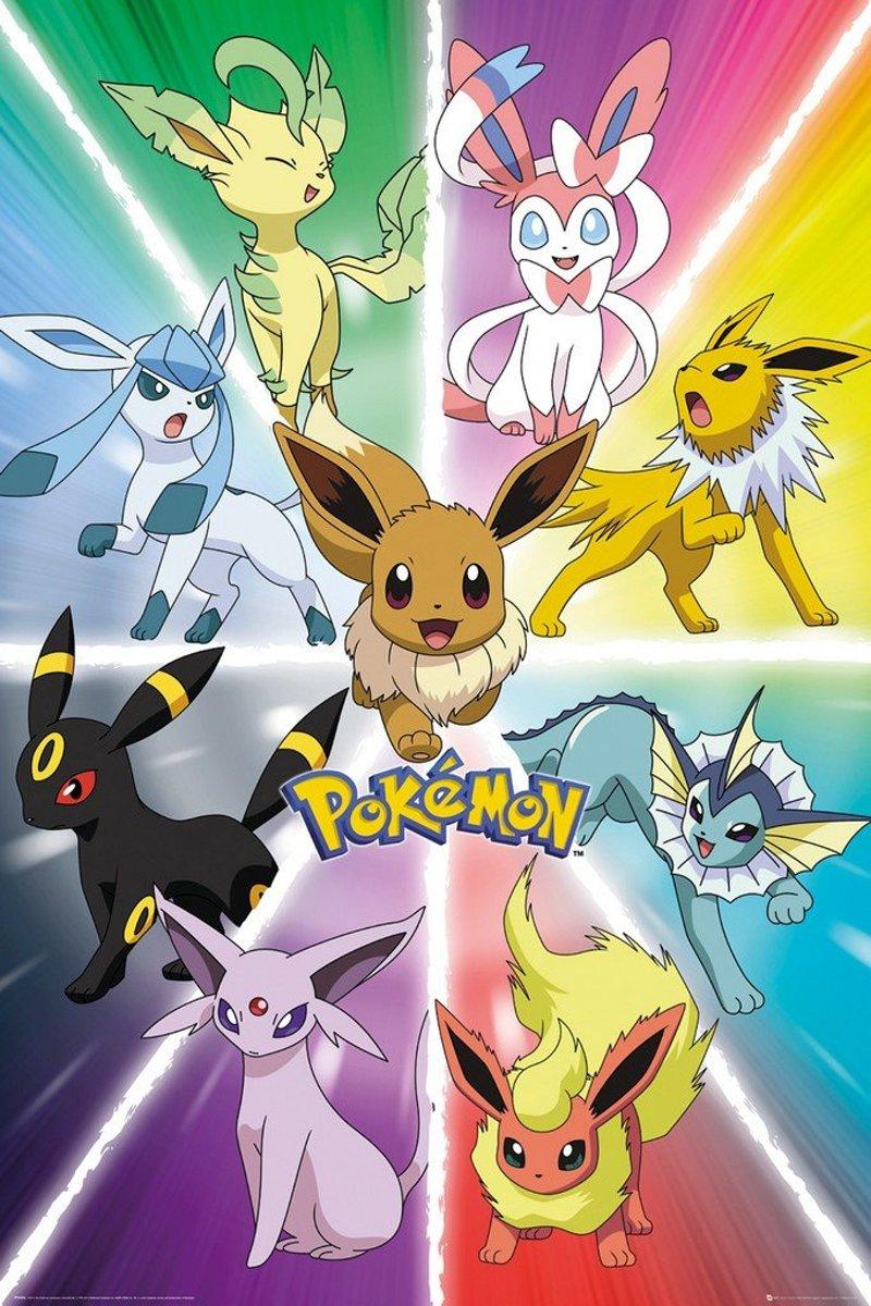 GBeye Pokemon Eevee Evolution Poster 61x91,5cm kopen