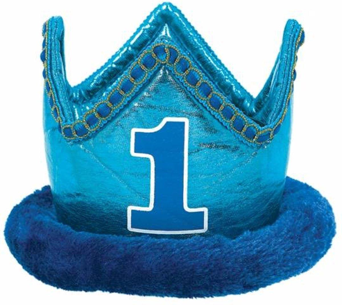 kroon 1 jaar bol.| 1 jaar jongen kroon, makkelijkfeestje | Speelgoed kroon 1 jaar