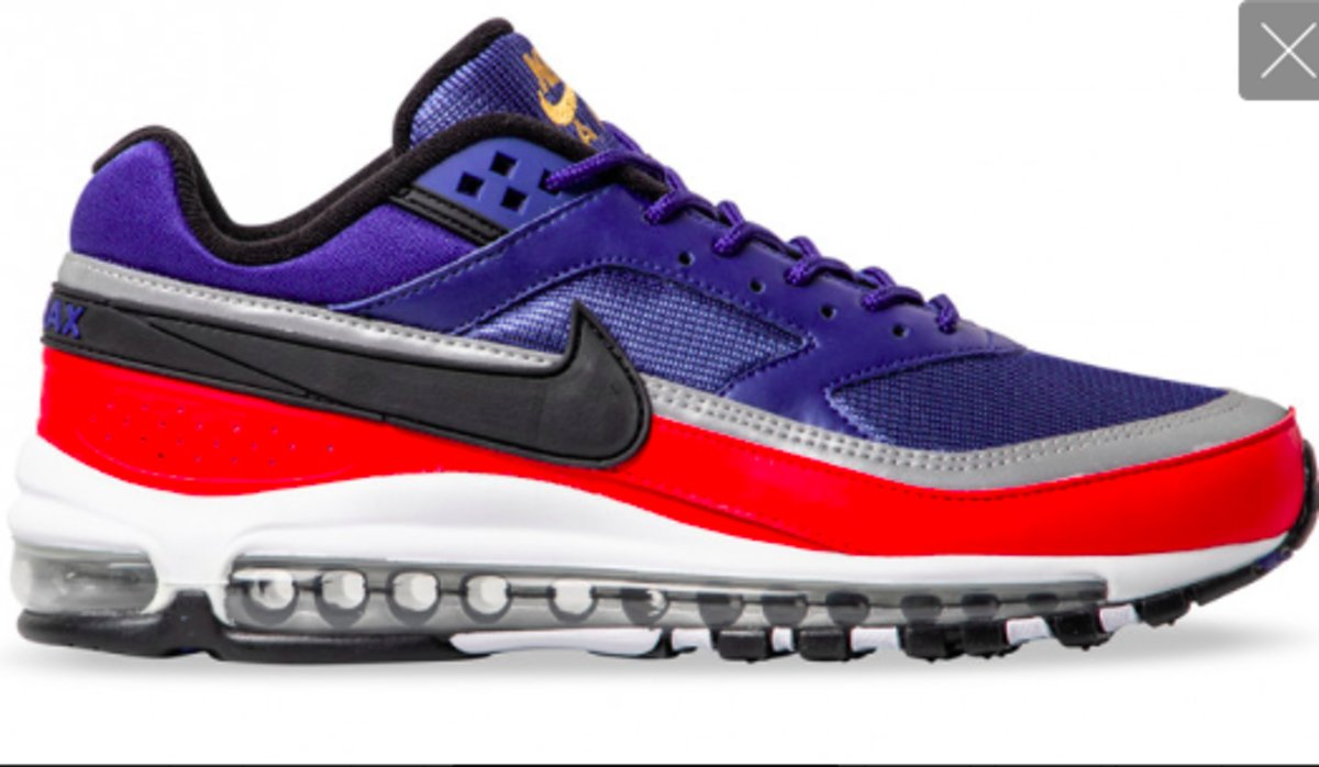 | Nike Air Max 97BW AO2406 400 Blauw Rood 44