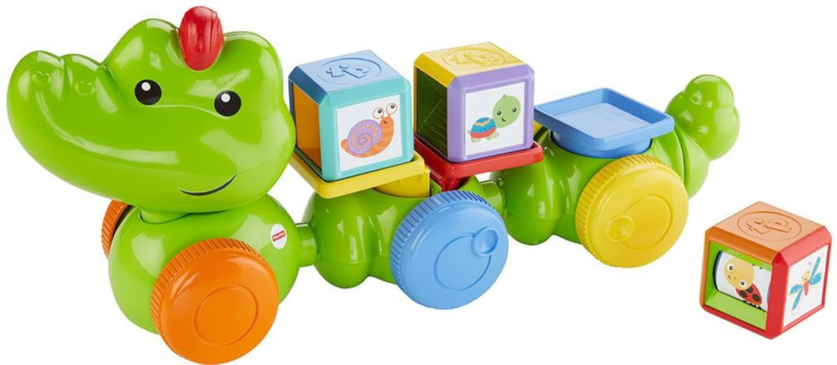 Blokken krokodil Fisher-price