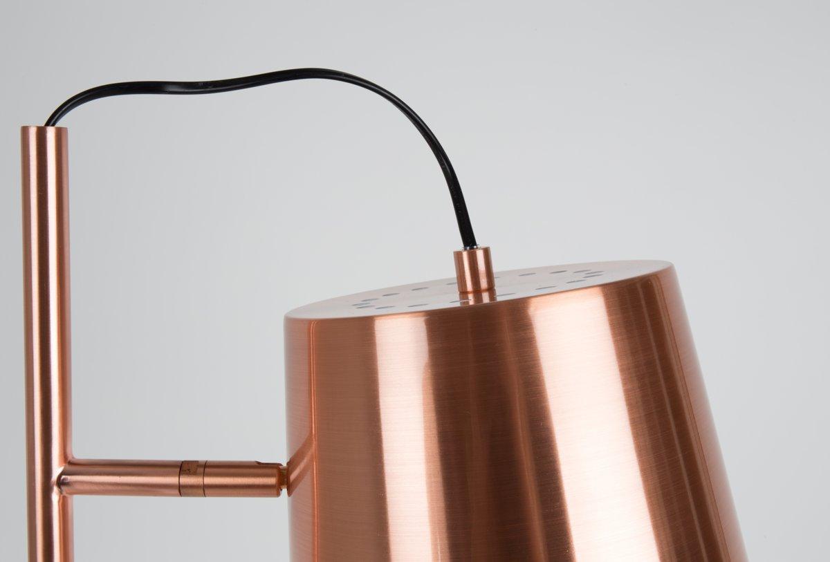 Bol zuiver buckle head copper vloerlamp koper