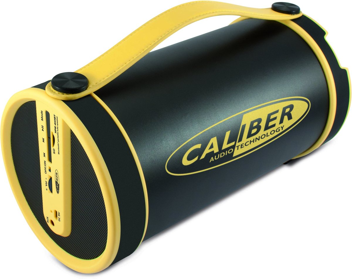 Caliber Bluetooth speaker HPG410BT/Y - Gele portable  speaker met FM radio, micro SD, aux in en oplaadbare accu kopen