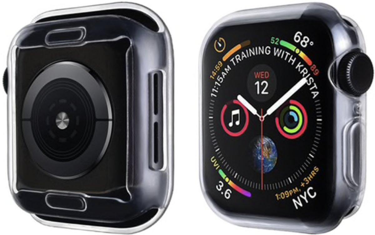 123Watches.nl - Apple Watch slim soft case - transparant - 40mm kopen