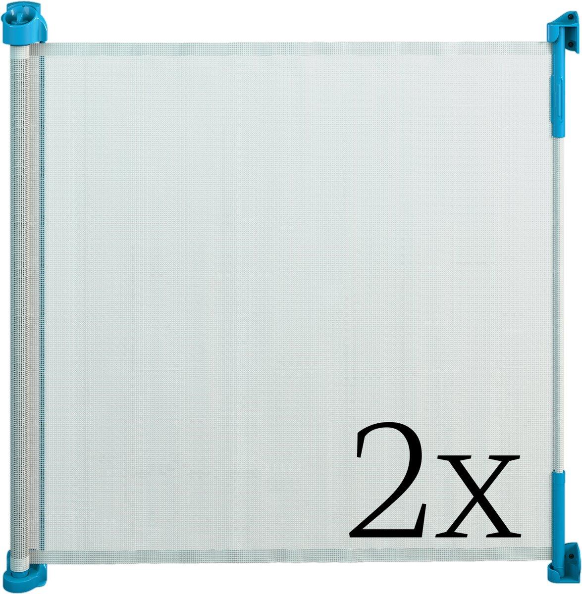 Gaterol Active Lite Blauw dubbelverpakking –  Twee uittrekbare trap- en deurhekjes Rollo, tot 140 cm