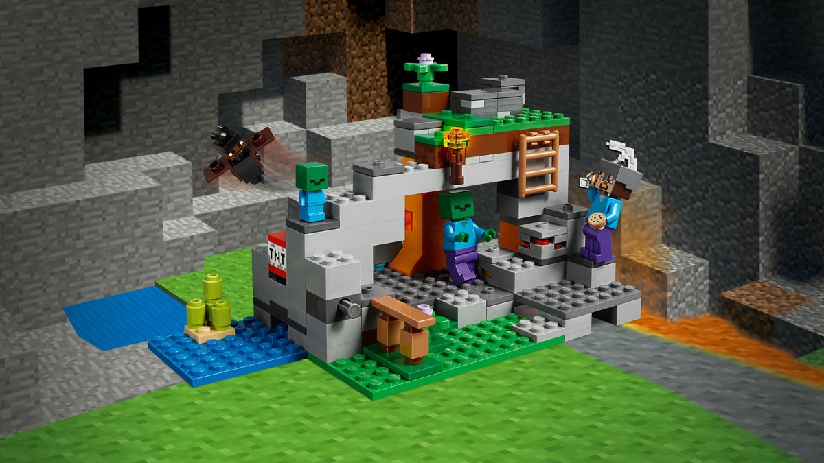 Bolcom Lego Minecraft De Zombiegrot 21141 Lego Speelgoed