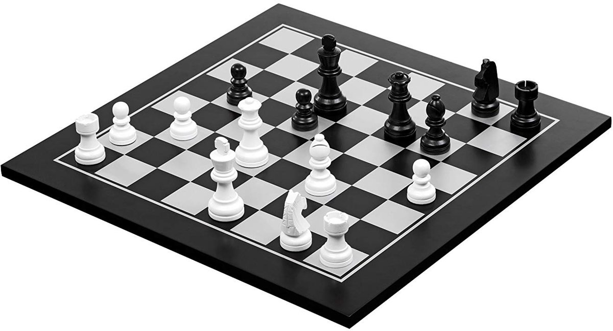 Philos houten schaak-dam set