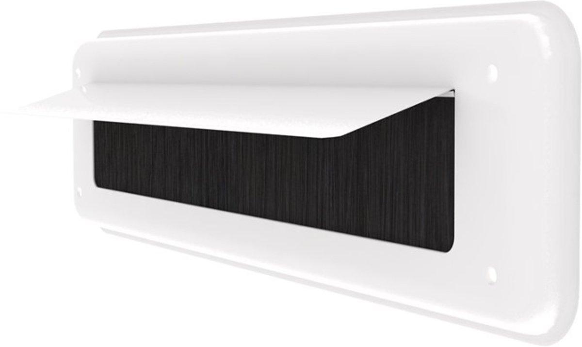 Door-line binnenbriefplaat alu wit met witte alu klep