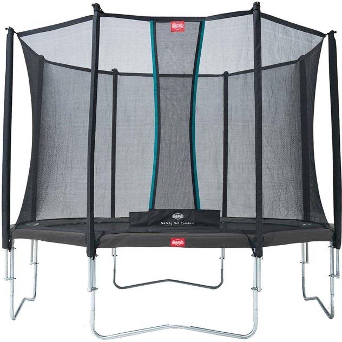 Berg Trampoline Favorit + Veiligheidsnet Comfort 380 Cm Grijs