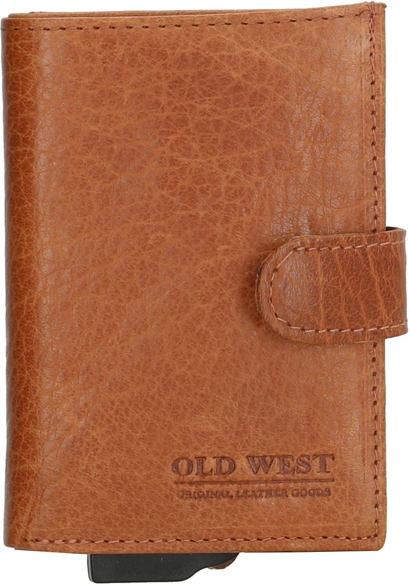 dd2d5e302b1 ... Old West - Leer - Cardprotector - Creditcardhouder - Pasjeshouder - RFID  - 11 pasjes ...