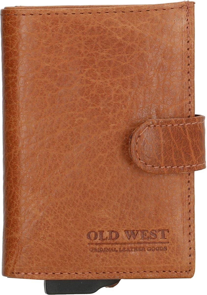 8918f207f93 ... Old West - Leer - Cardprotector - Creditcardhouder - Pasjeshouder -  RFID - 11 pasjes ...