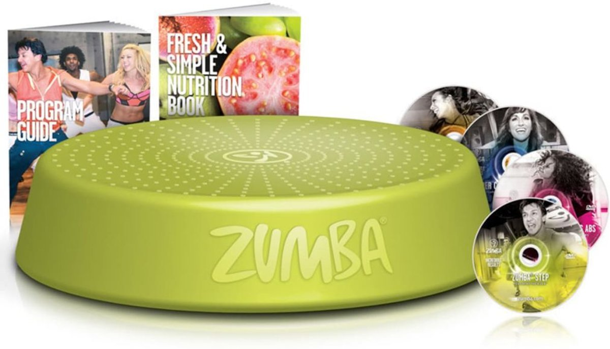 Zumba Step Stepper 7-delige mega-set  met workout dvd's en gidsen kopen