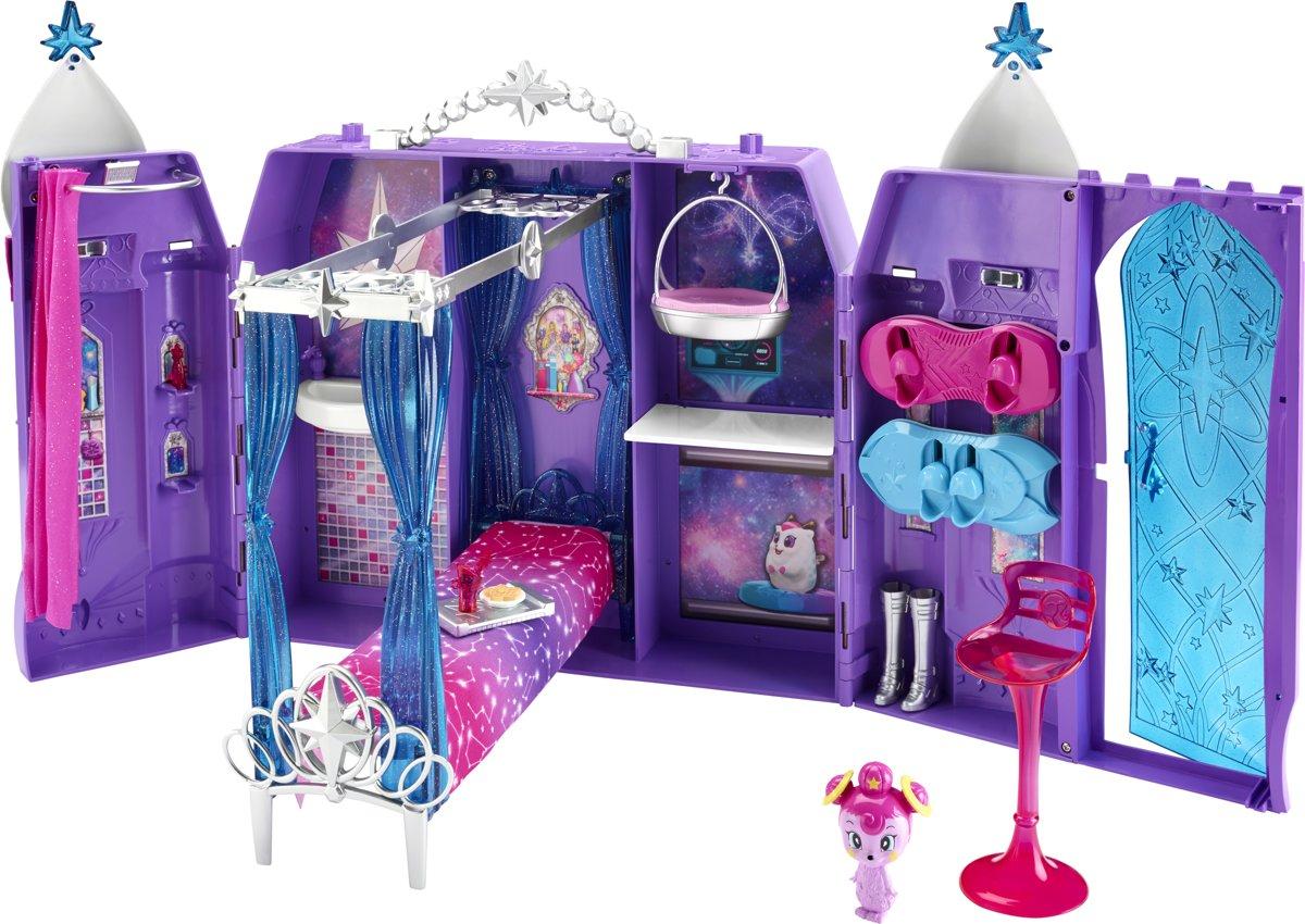 Barbie Star Light Avontuur Ruimtekasteel - Barbiehuis - Paars/Blauw