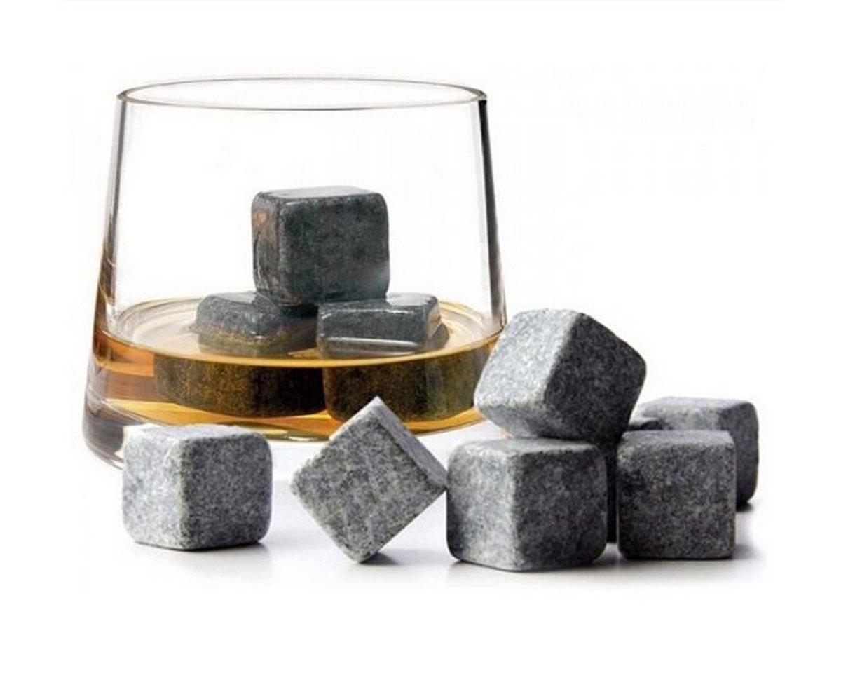 Whiskey Stones/ Whisky Cubes - Natuursteen IJsblokken - Set 9 Stuks kopen