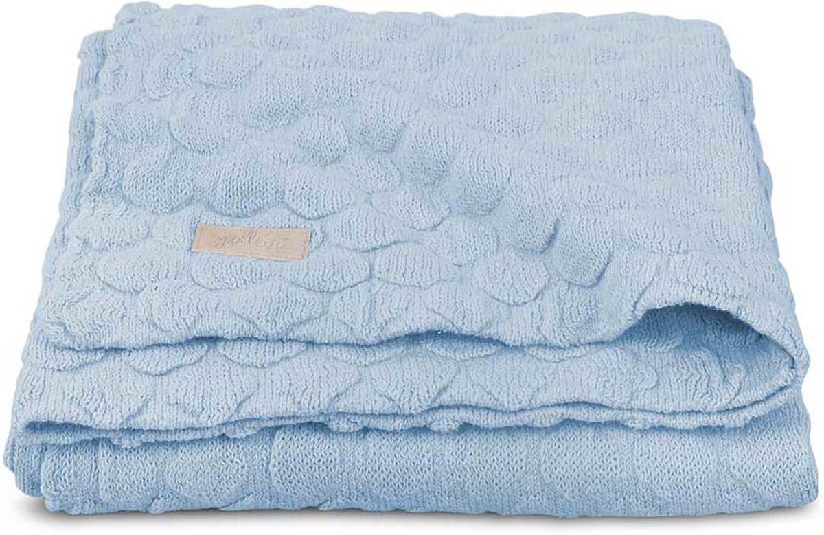 Jollein Fancy knit Deken 75x100cm baby blue