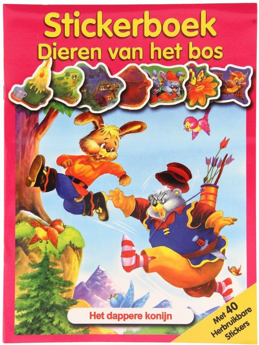 Flash Stickerboek Dieren Van Het Bos - Het Dappere Konijn