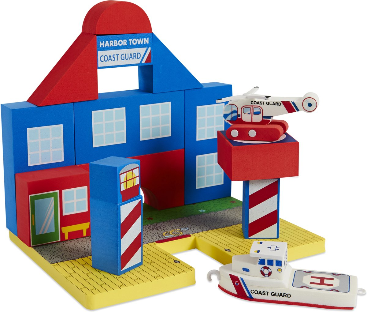 Bath Blocks Coast Guard Set Multi colour