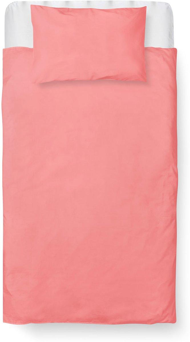 Roomture - Dekbedovertrek Ledikant - Katoen - 100 x 135 - Roze - Baby Pink kopen