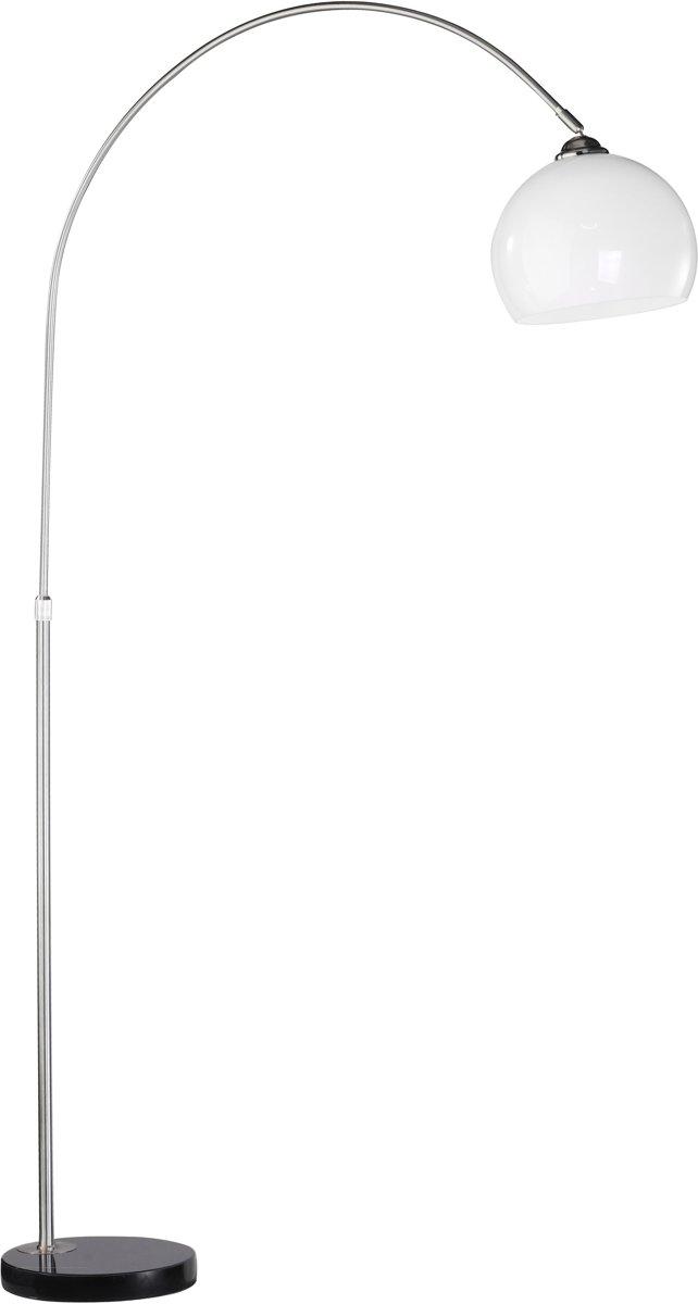 Stehleuchte, stahl 1xE27/60W InneaLT-Luce Vloerlamp Booglamp Klein 25cm Bolleuchte, IP20