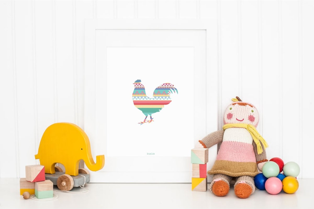 Poster Babykamer Pastel : Bol kinderkamer poster babykamer decoratie kleurrijke
