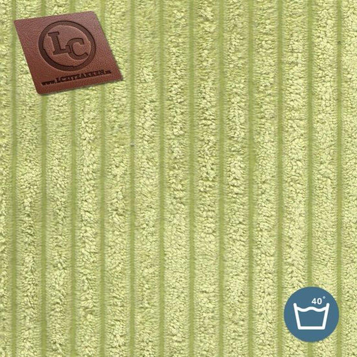 LC Zitzak hoes Ibiza L ribcord pistache - Wasbaar - Zacht en comfortabel kopen