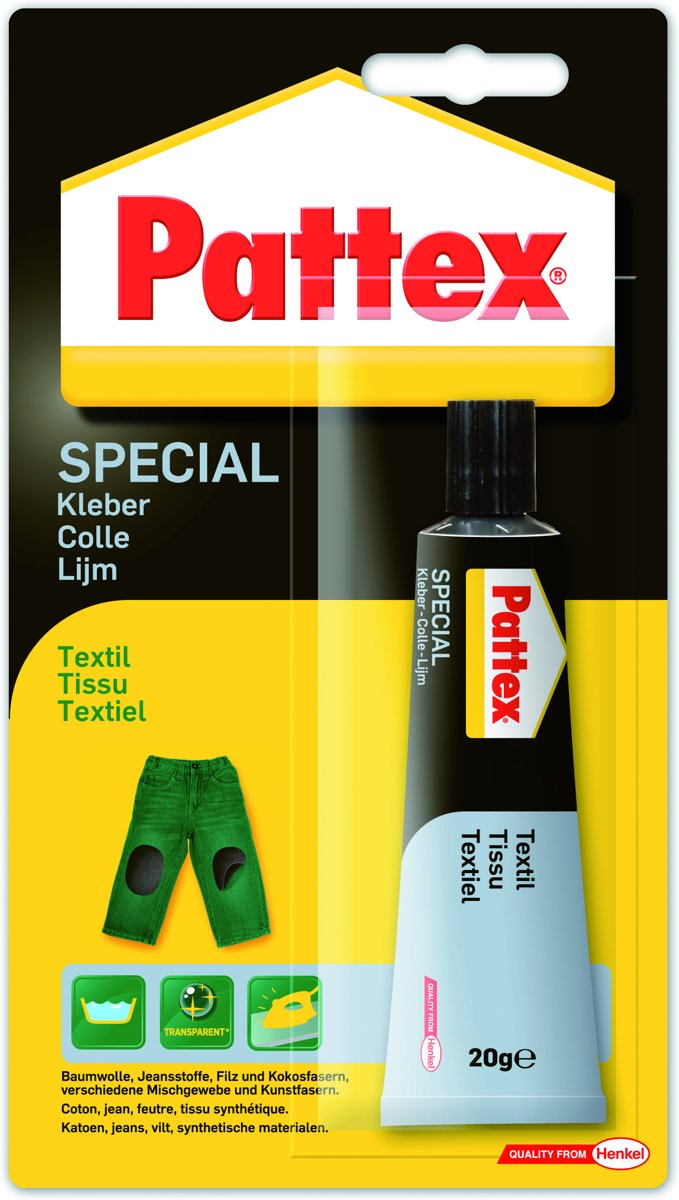 Pattex Made at Home textiellijm - tube 20 gr. - transparant