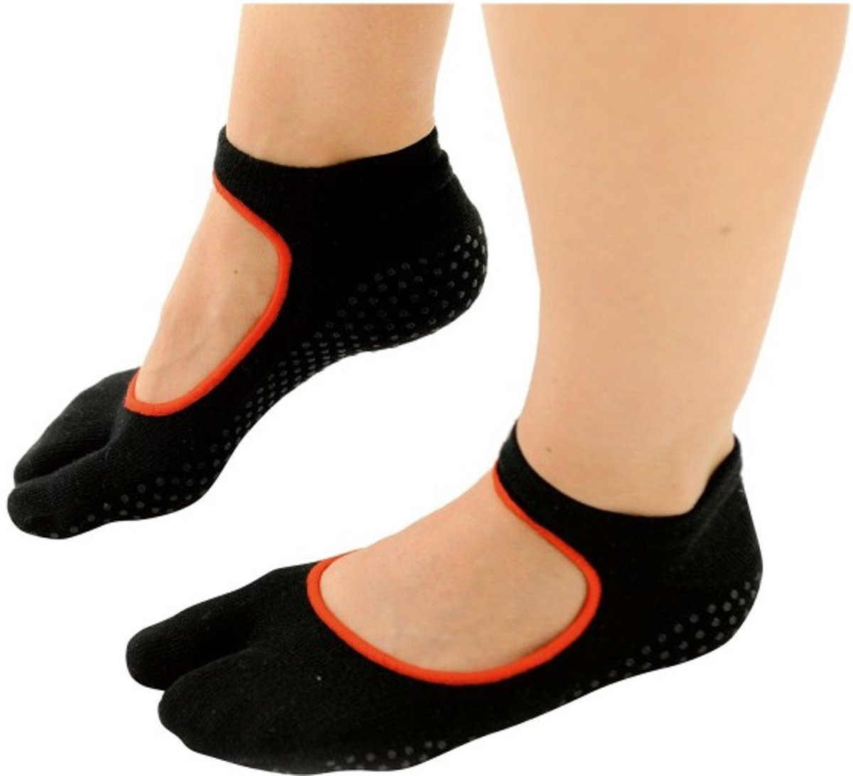 Sissel Pilates één teen antislip sokken - Maat Large/X-Large (40-45) kopen