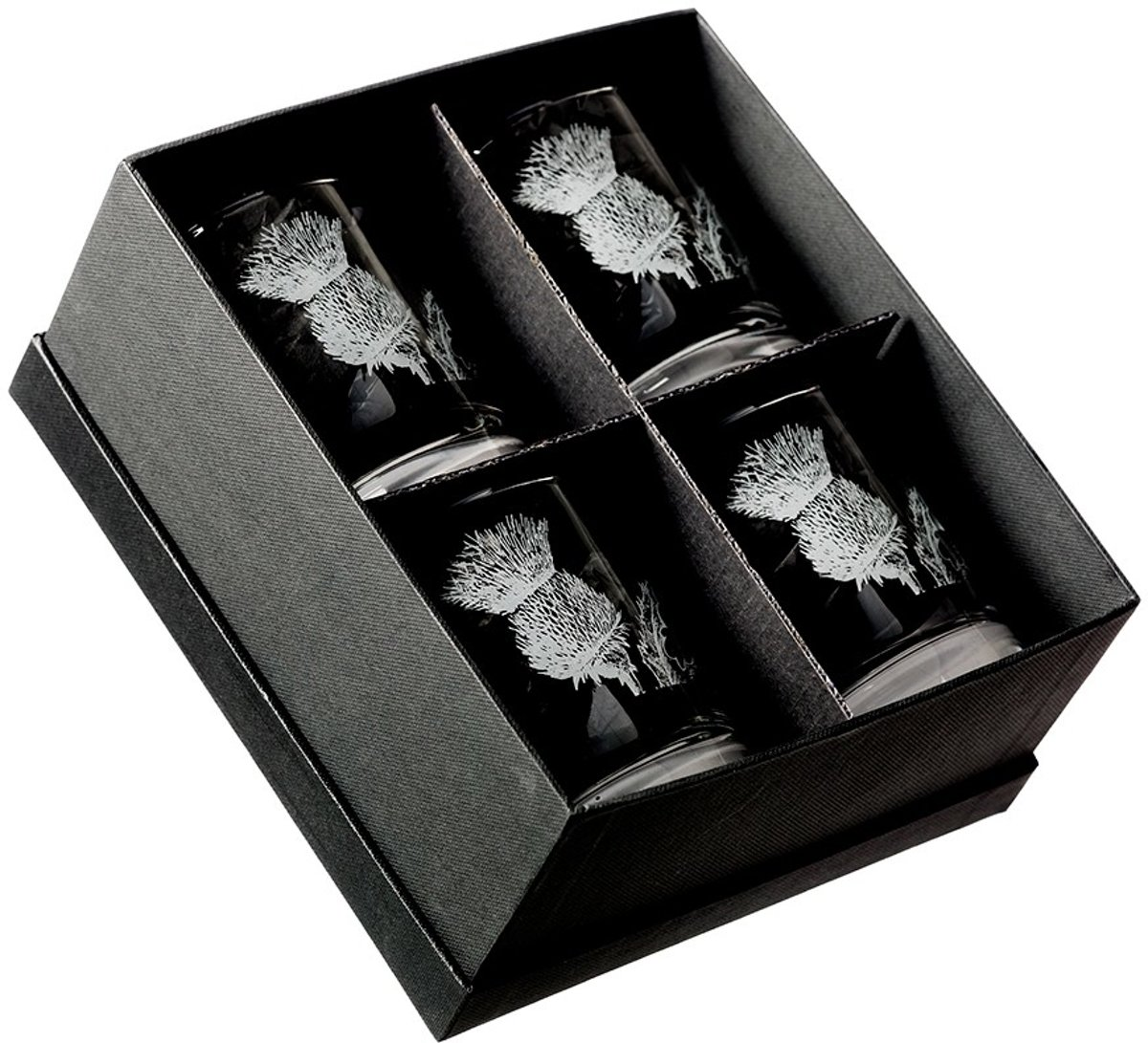 Whiskyglas Thistle (Distel symb. Schotland) | Set van 4 kopen