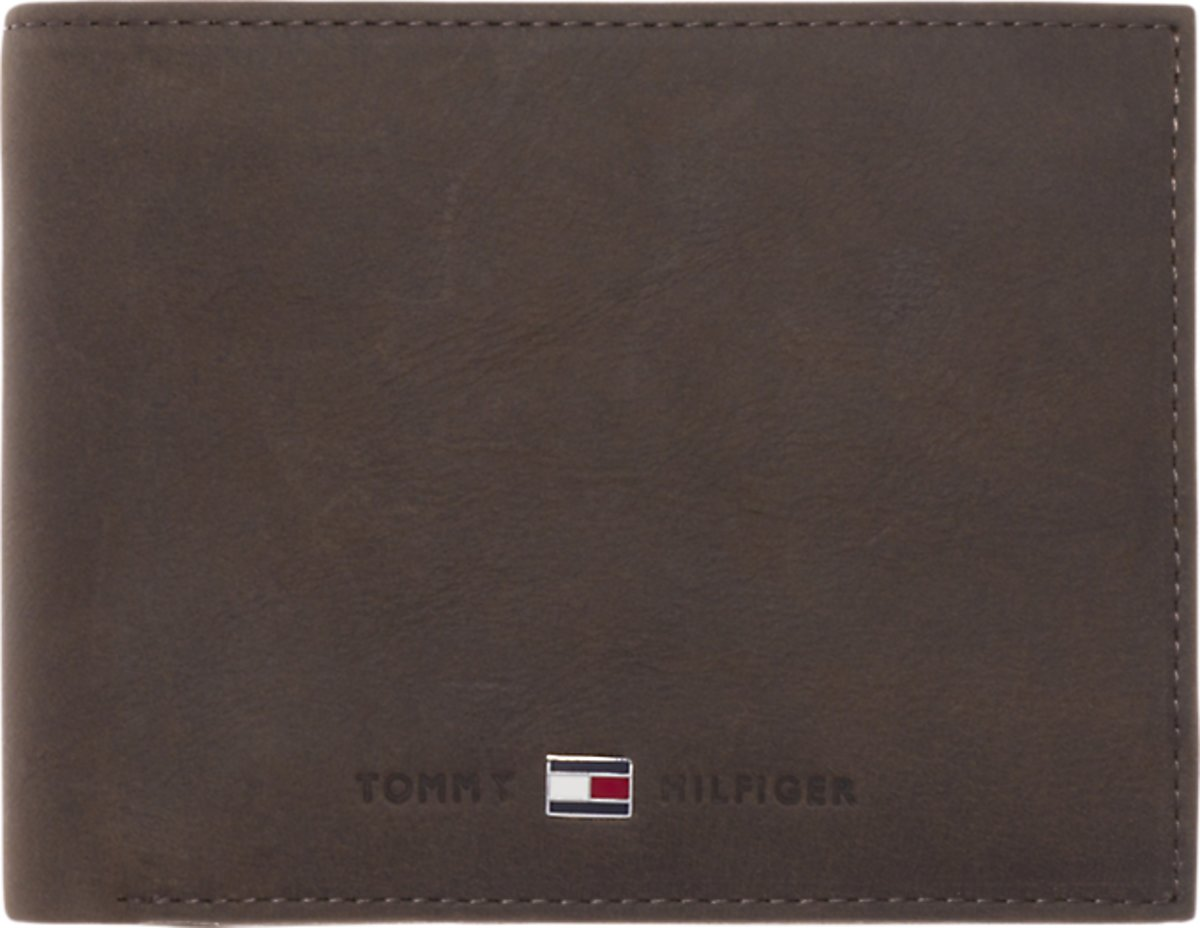 Tommy Hilfiger Johnson CC Flap and coin pocket heren portemonnee Brown