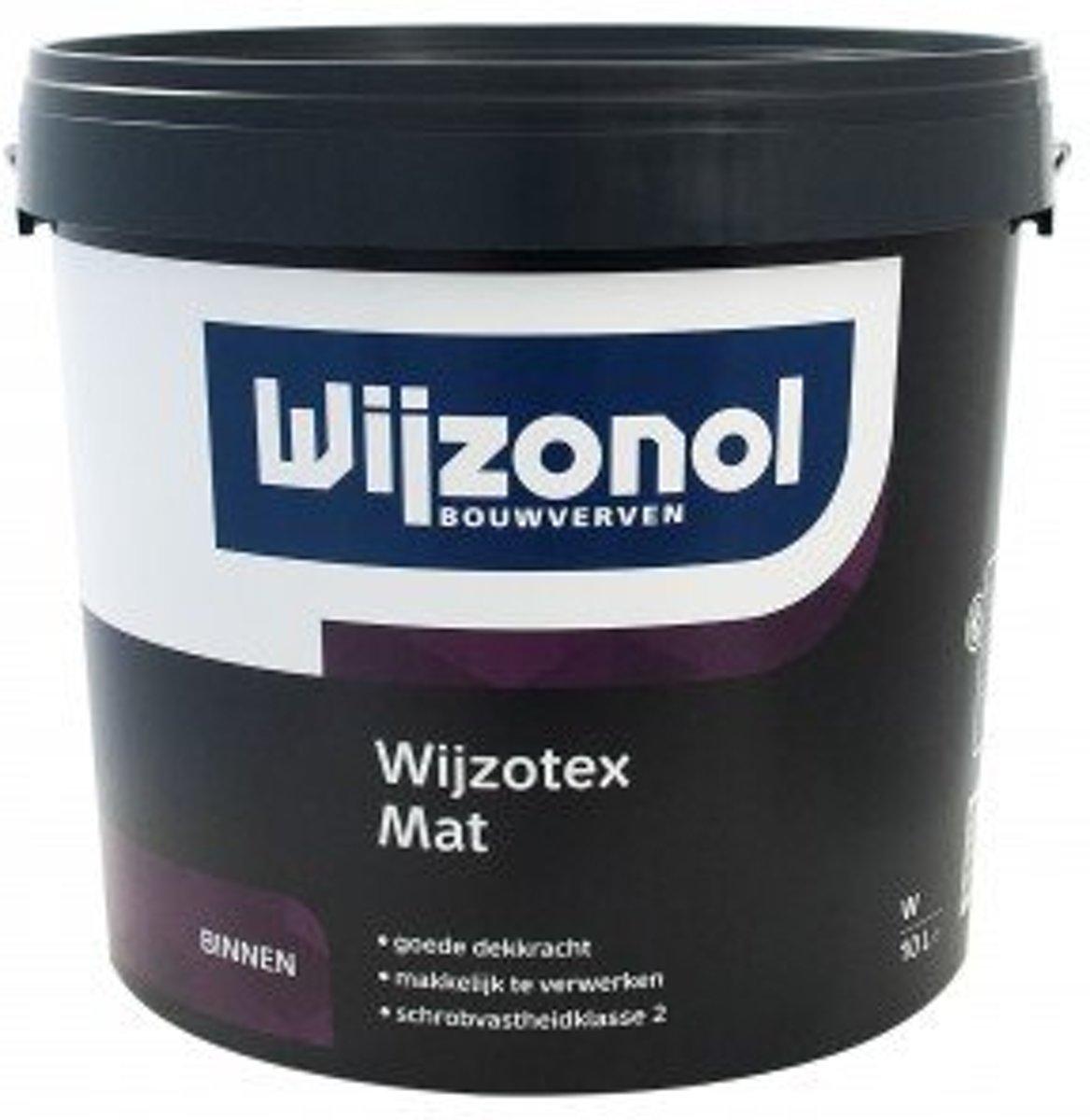 Wijzonol Wijzotex Mat 10 liter wit