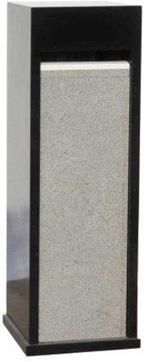 zwarte brievenbus met graniete voorzijde model 64