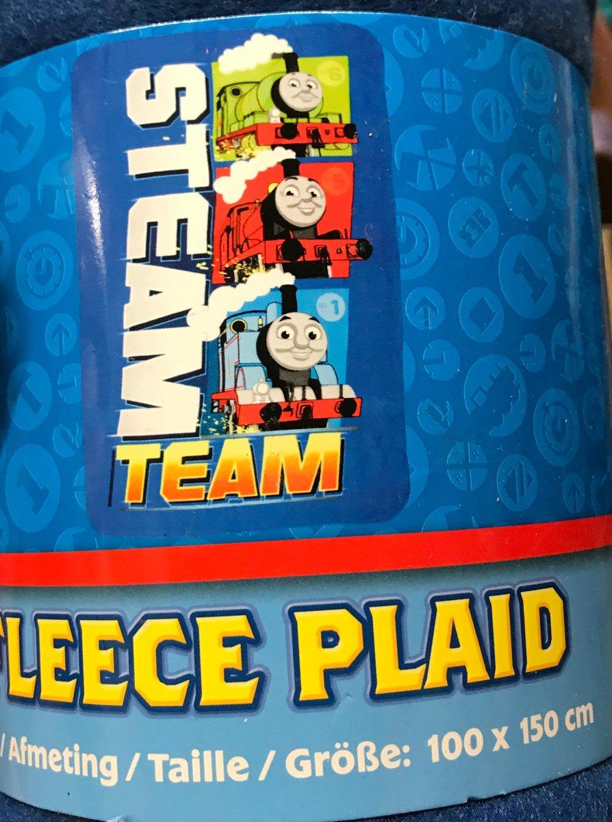 Thomas de trein plaid stream team