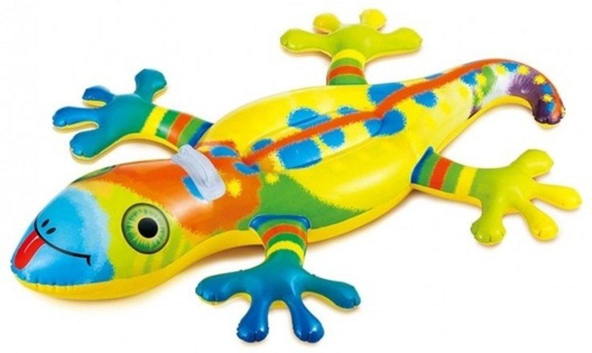 Gekleurd luchtbed salamander/hagedis - Luchtmatrassen - Opblaasbare zwembad speelgoed voor kinderen