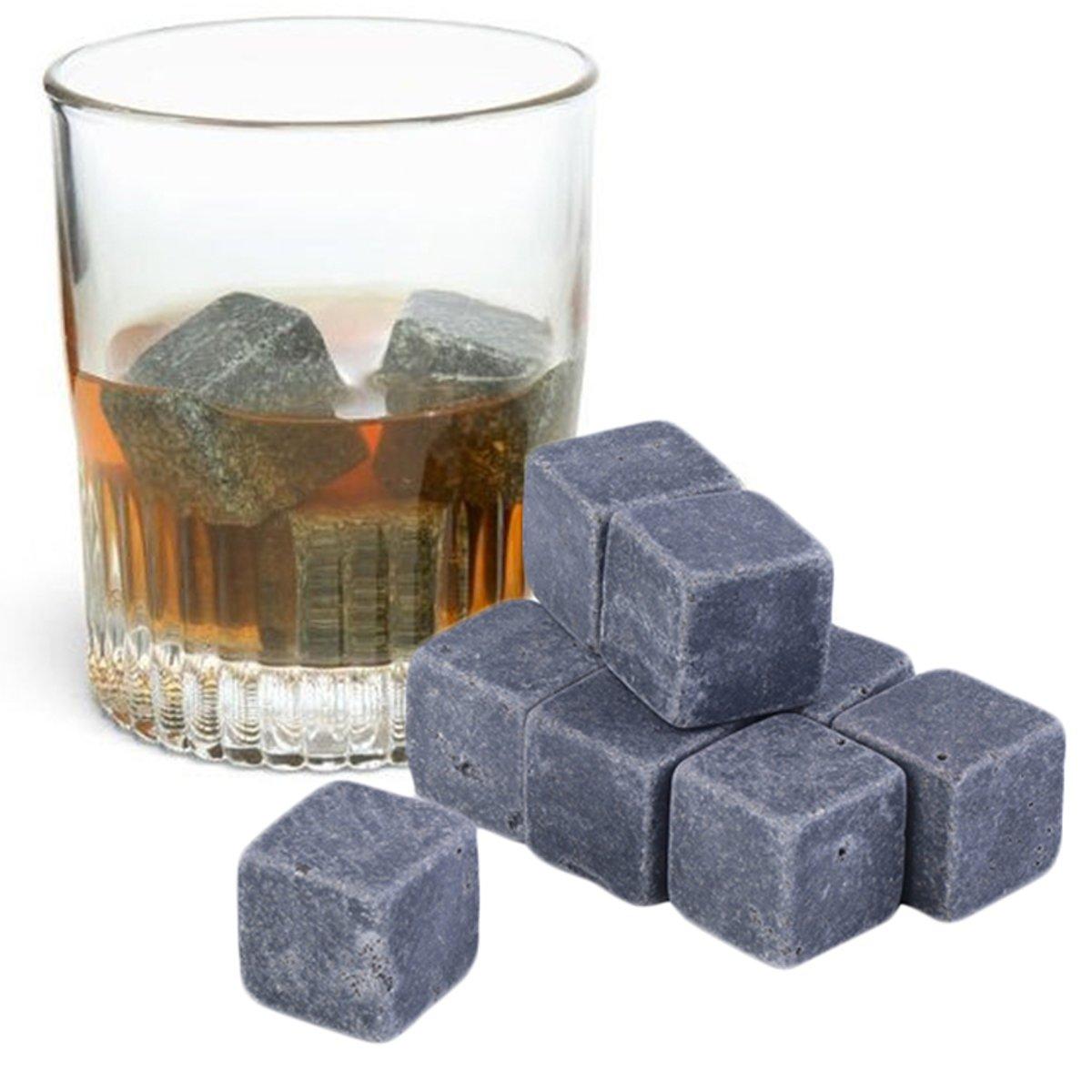 Whiskey Stones - Natuursteen ijsblokken - Geschenkverpakking met 9 stuks kopen