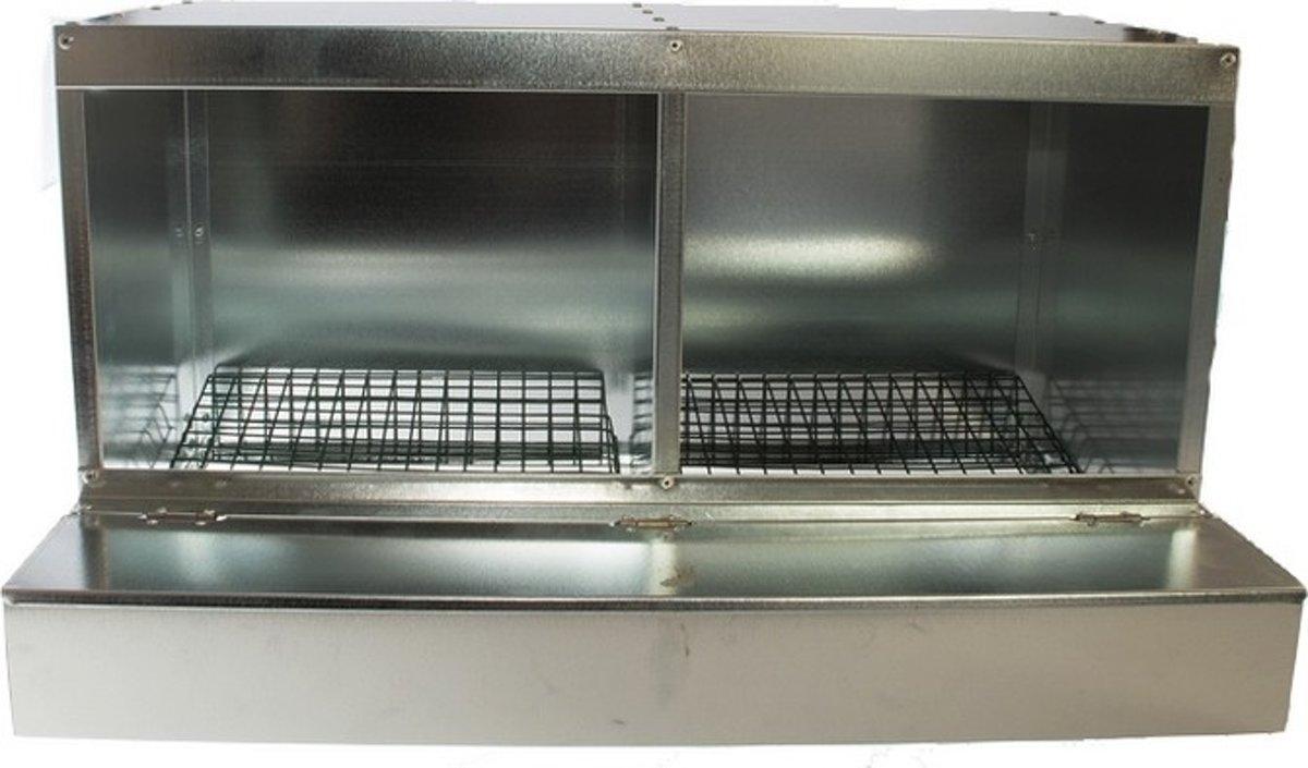 Dubbel Legnest Gegalvaniseerd - set van 2 stuks - Aluminium