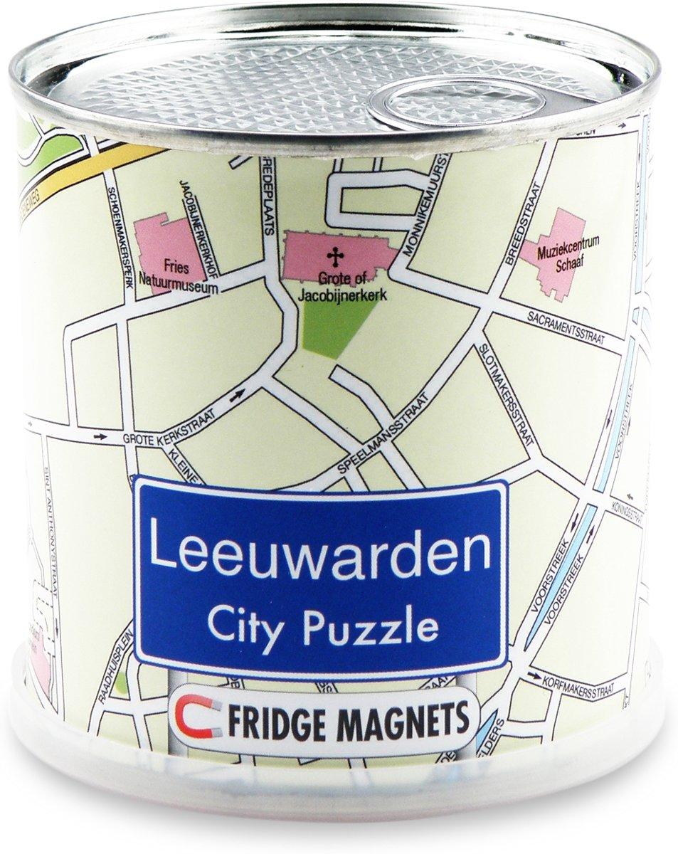 City Puzzle Leeuwarden - Puzzel - Magnetisch - 100 puzzelstukjes