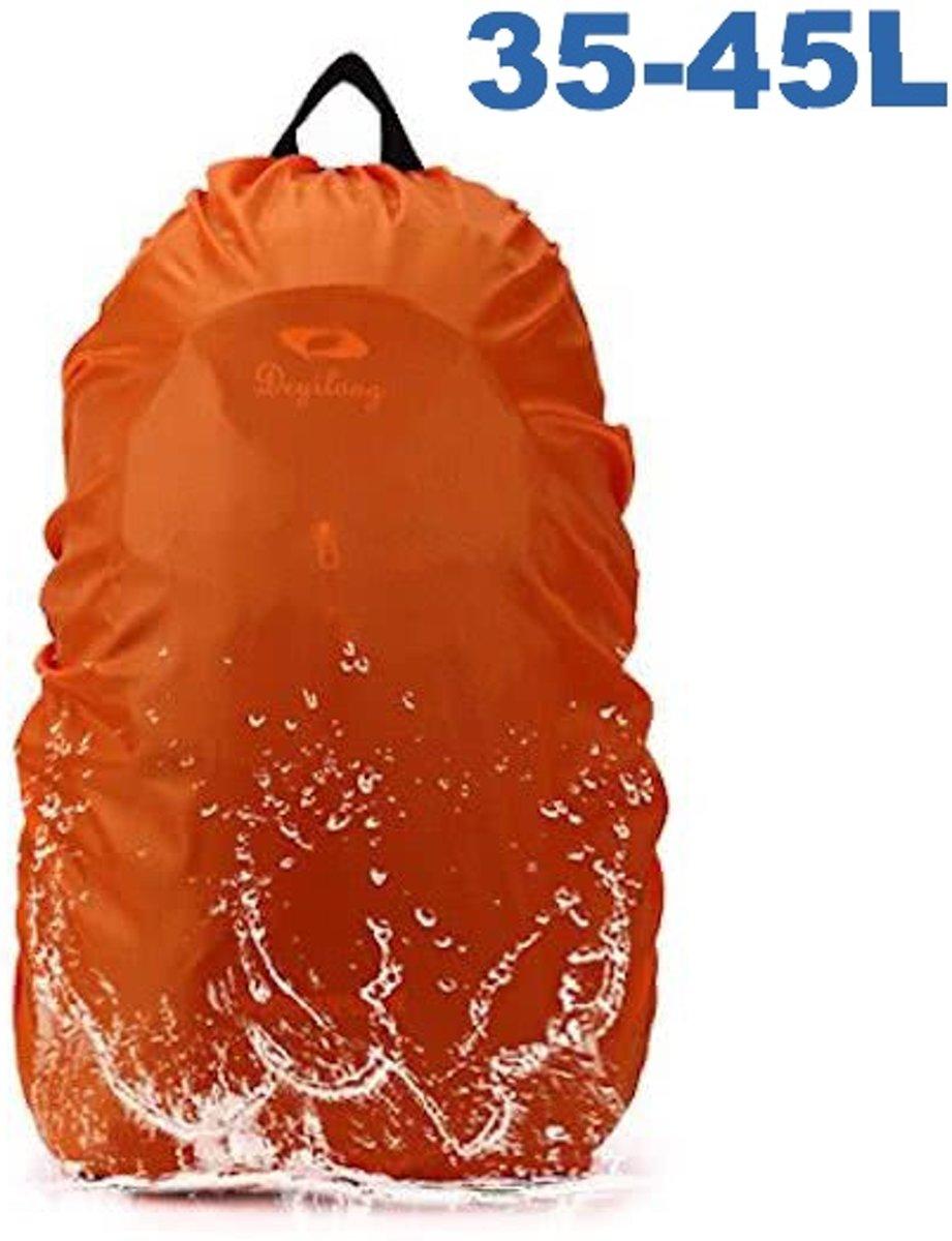 Flightbag Regenhoes Waterdicht voor Backpack Rugzak - 35-45 Liter Regenhoes – Oranje M kopen