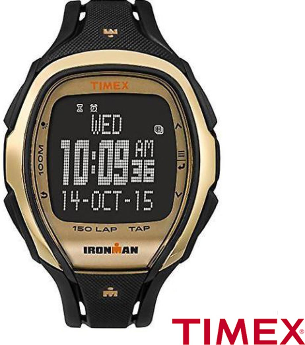 Timex Ironman Tapscreen 150 Color Block (TW5M05900) - Sporthorloge - 46mm - Gold kopen