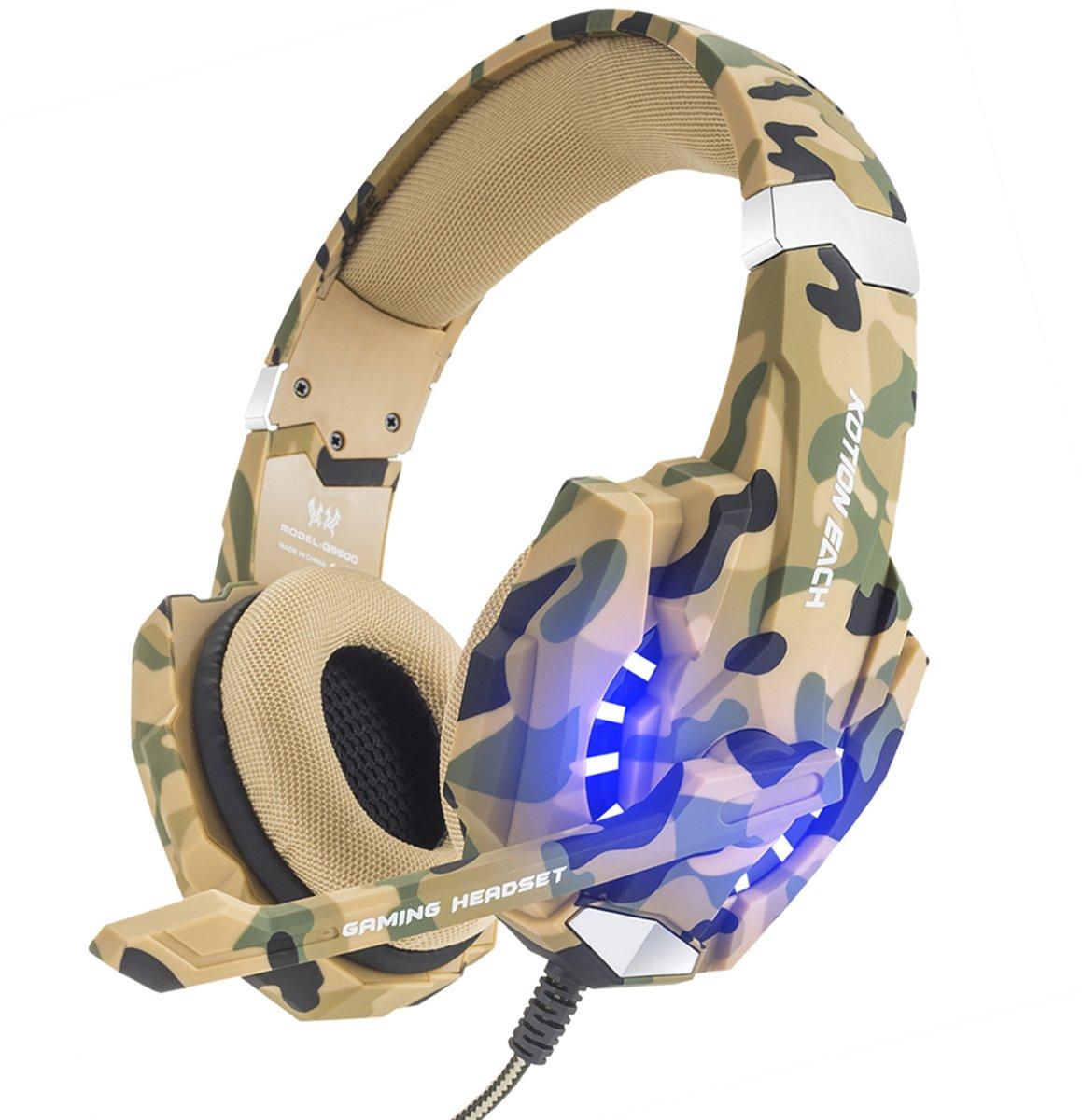KOTION EACH G9600 gaming-headset met stereo USB-microfoon voor PS4-laptops (camouflage) kopen
