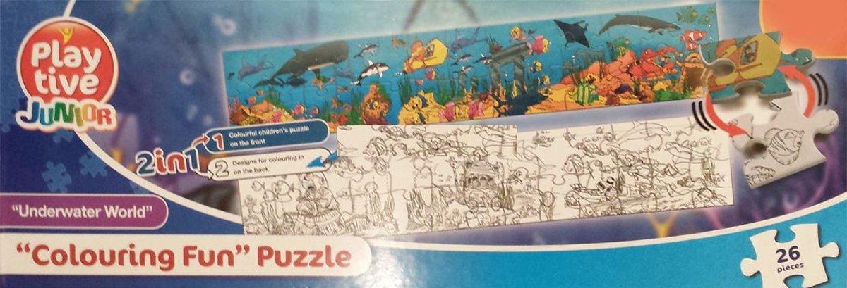 Playtive Junior Onderwaterwereld Puzzel / Kleurplaat (26st)