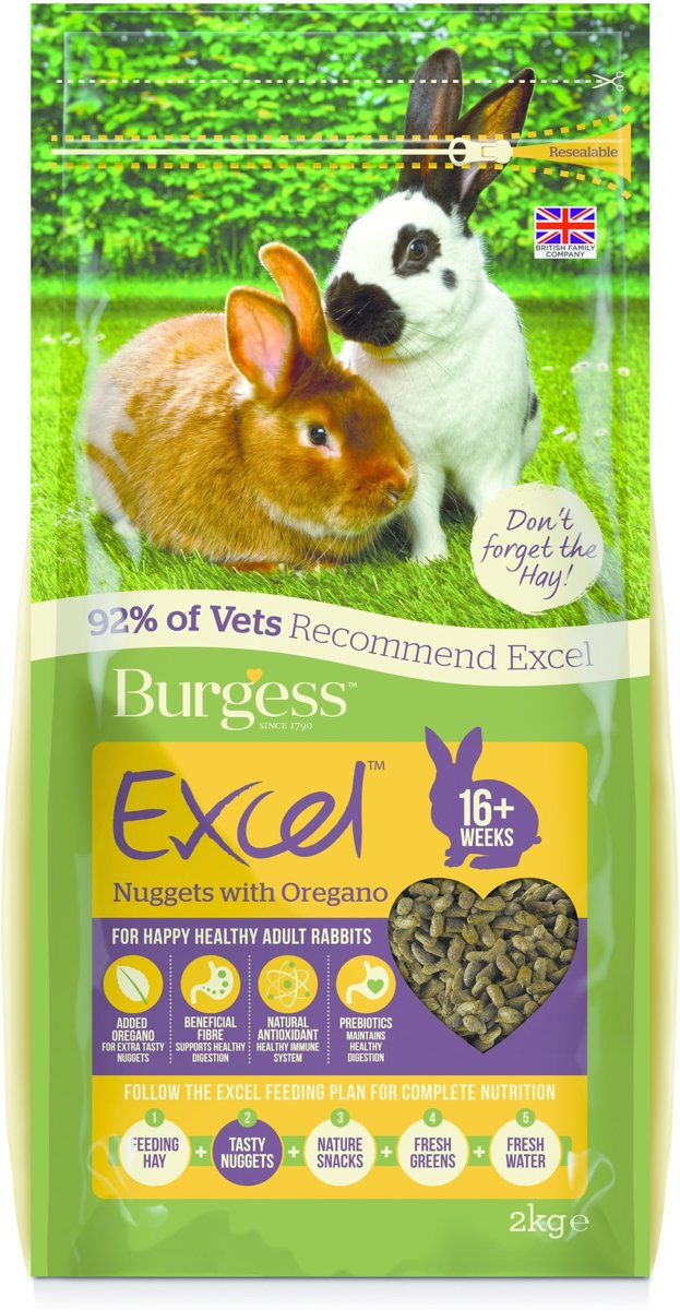 Burgess excel rabbit adult oregano konijnenvoer 2 kg