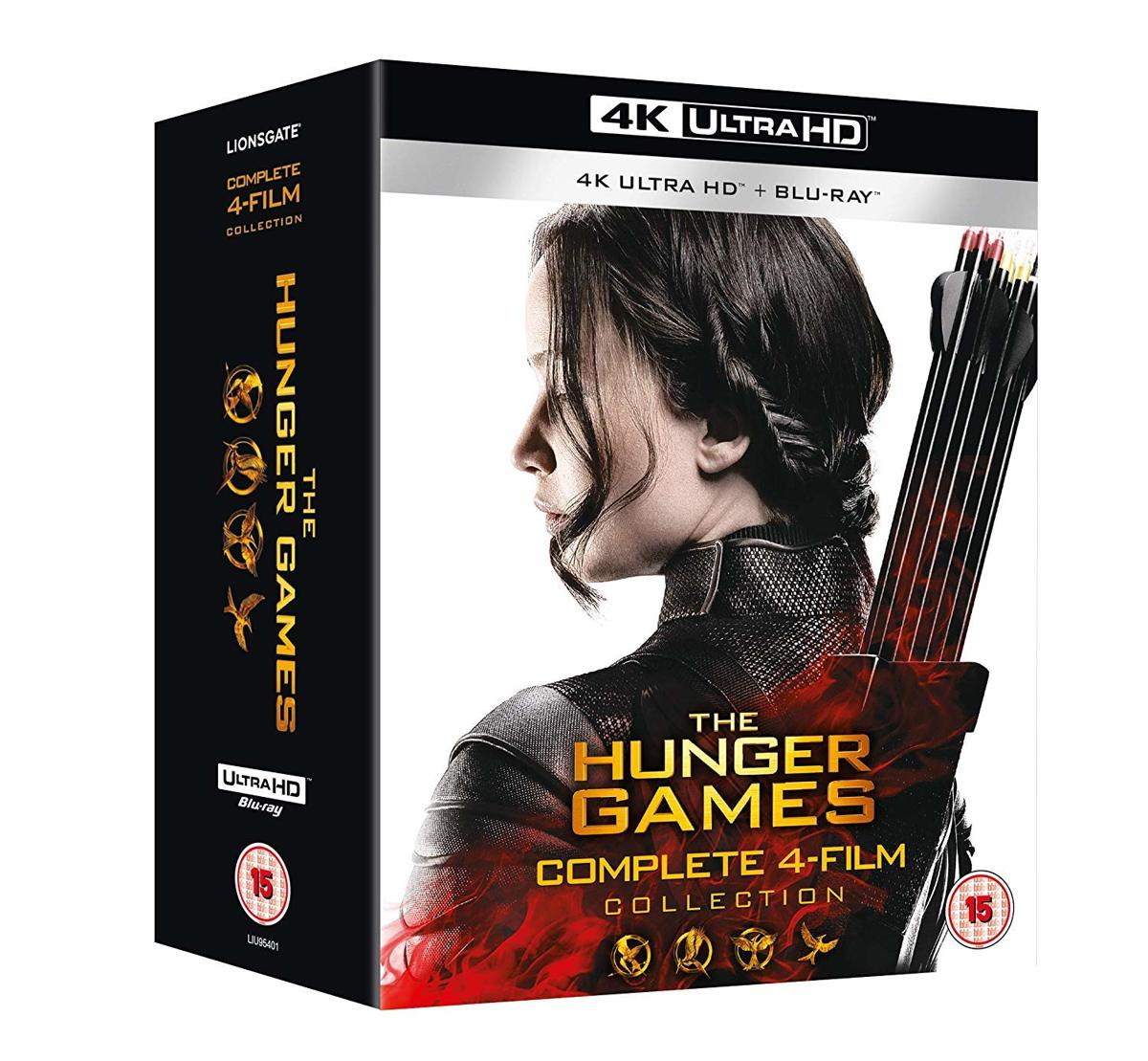 The Hunger Games Complete 1-4 (4K UHD + blu-ray) (Import zonder NL)-