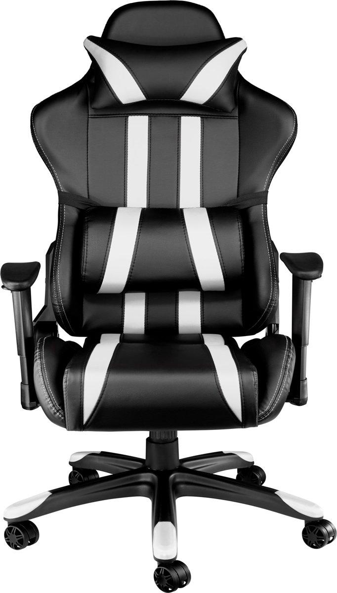 Gaming Stoel Goedkoop : Bol gaming chair bureaustoel premium racing style zwart wit