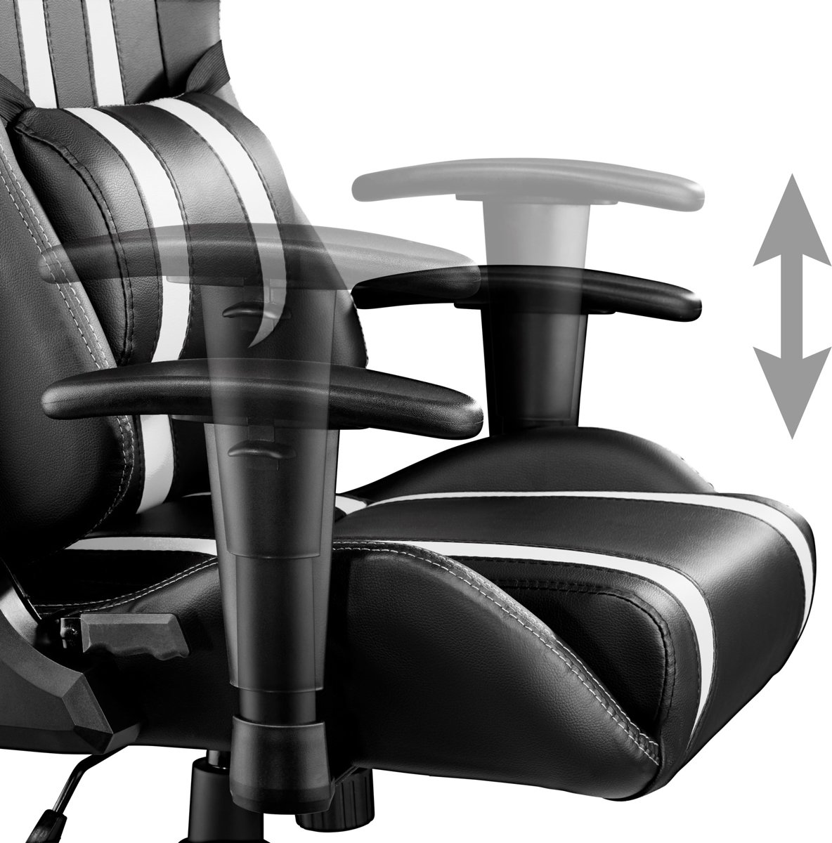 Peachy Tectake Gaming Chair Bureaustoel Premium Racing Style Zwart Wit Pdpeps Interior Chair Design Pdpepsorg